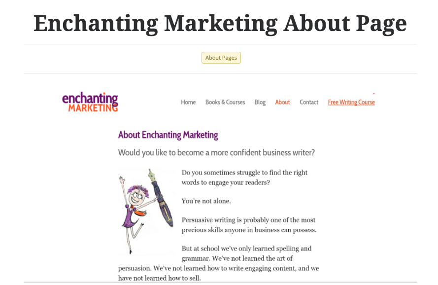 Enchanting Marketing- About Page